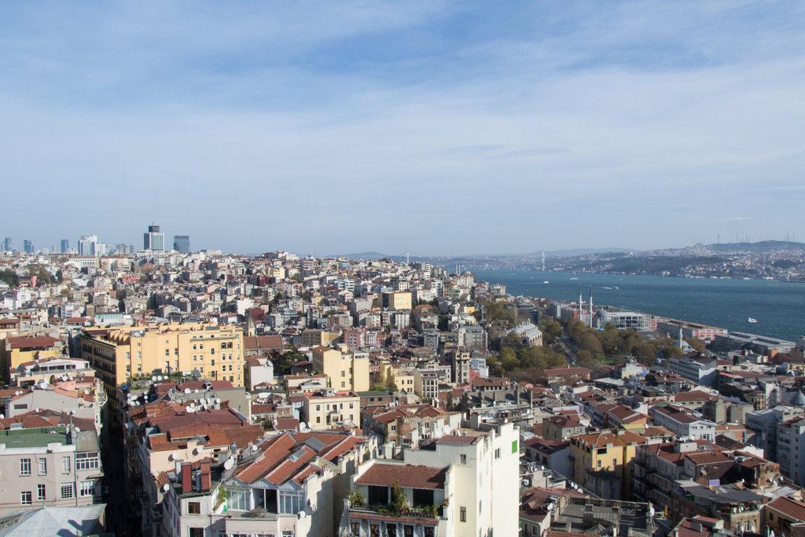 Blick auf Galata in Istanbul, Türkei