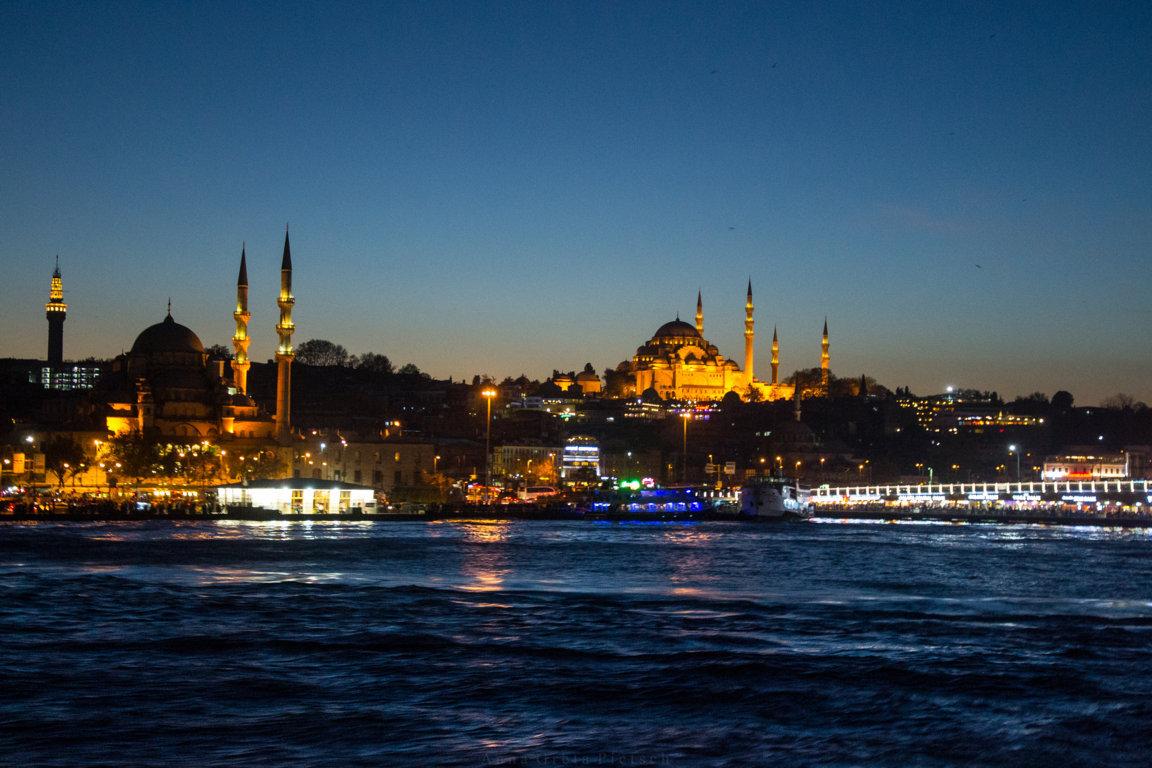 Istanbul Moscheen by night, Türkei