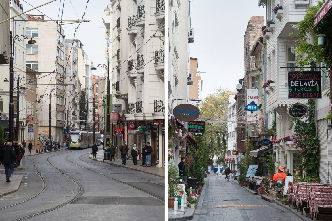 gemütliche Seitenstraßen in Istanbul, Türkei