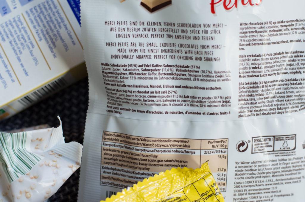 Etiketten auf Lebensmitteln