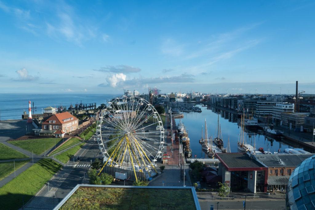 Ausblick auf den Neuen Hafen, Bremerhaven