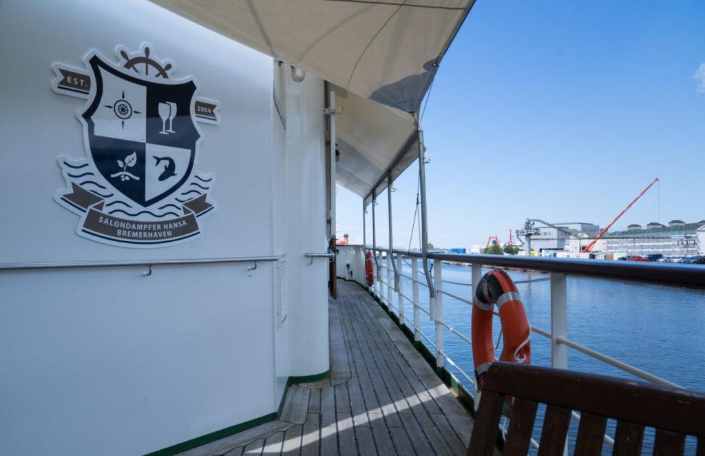 An Bord des Salondampfers Hansa