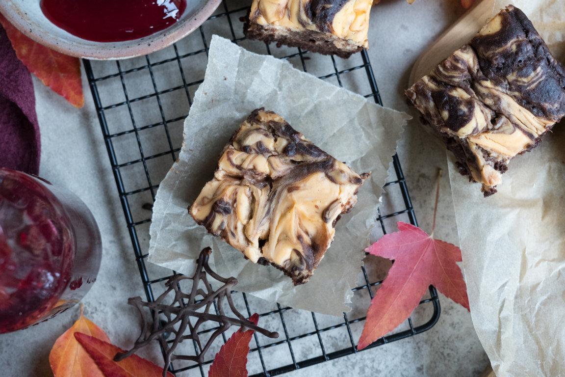 Süßkartoffel-Cheesecake Brownies