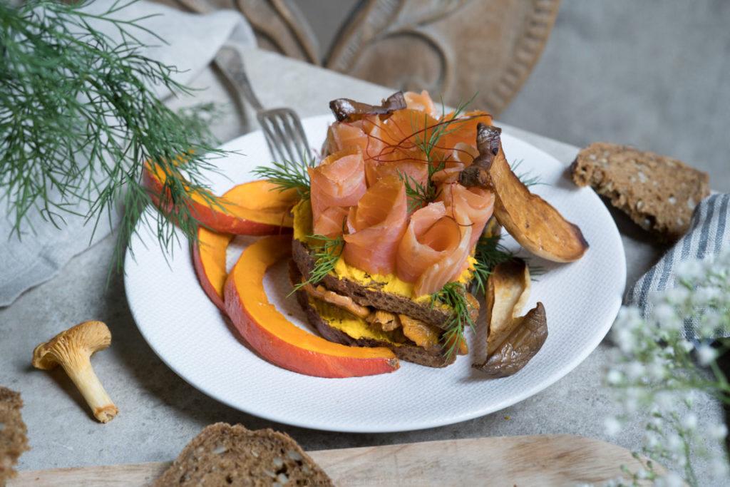 Herbstliches Smörgåsar - perfekt als Hauptmahlzeit