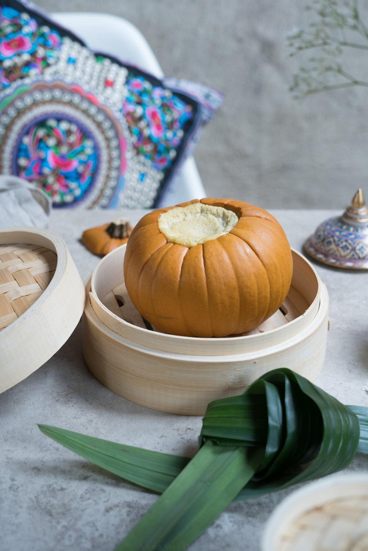thailändisches Kürbis-Dessert Sangkaya Fak Thong