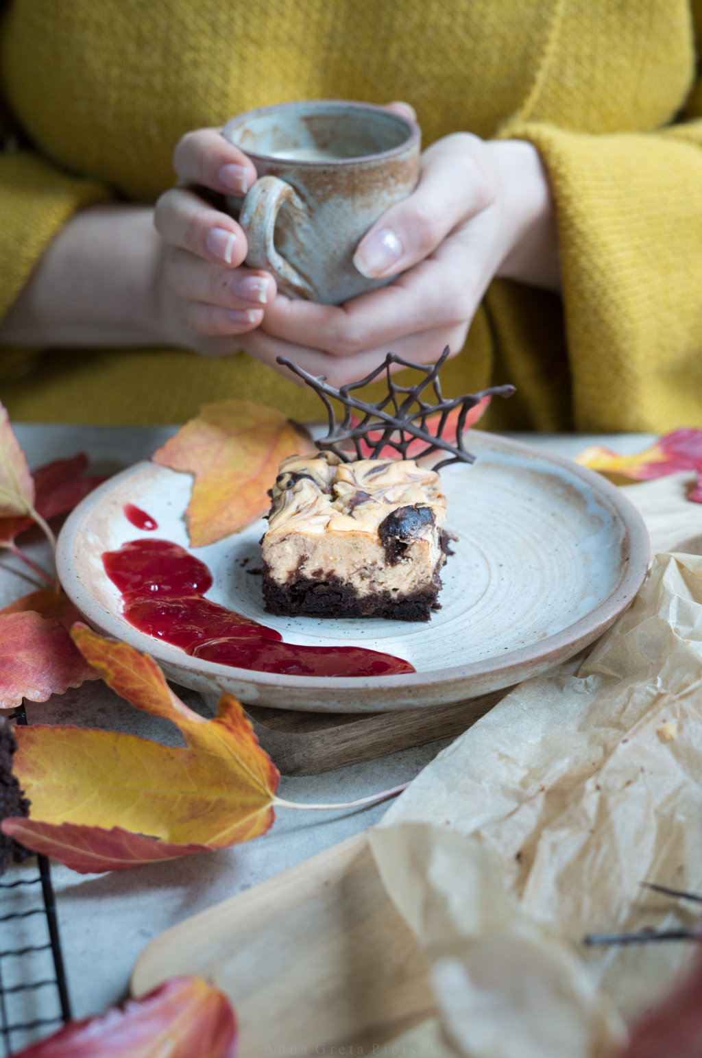 Perfekt für den Kaffee: Süßkartoffel-Cheesecake-Brownies