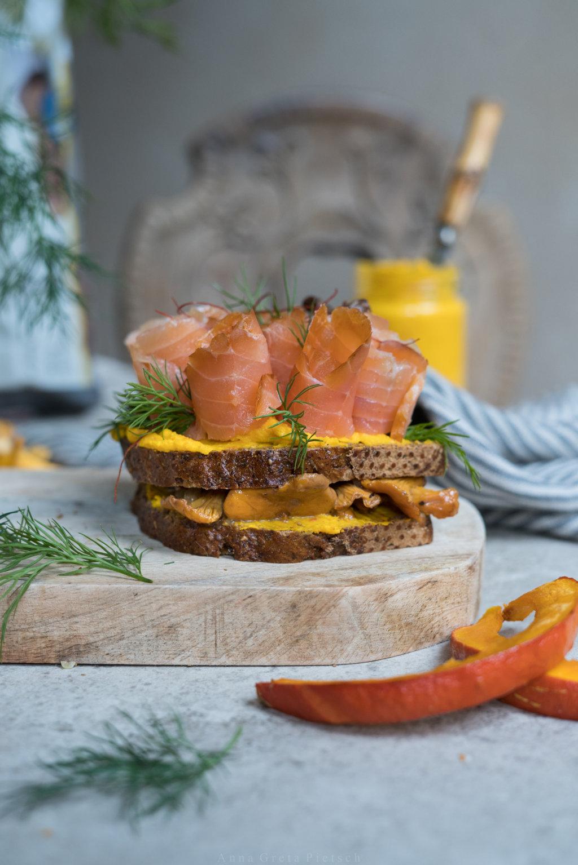 Herbstliches Smörgåsar - glutenfrei natürlich.