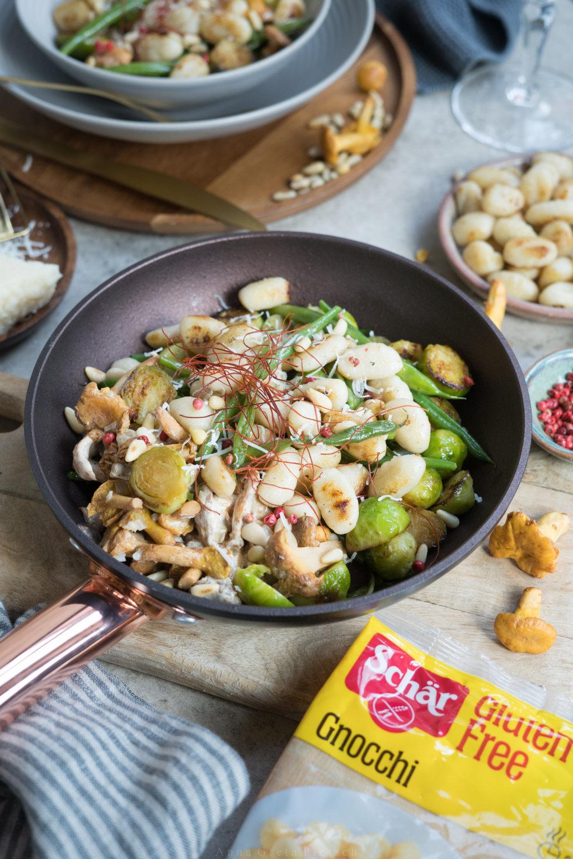 Herbstliche Gemüsepfanne mit Gnocchi von Schär