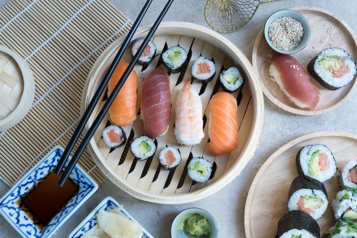 Sushi gibt es auch glutenfrei!