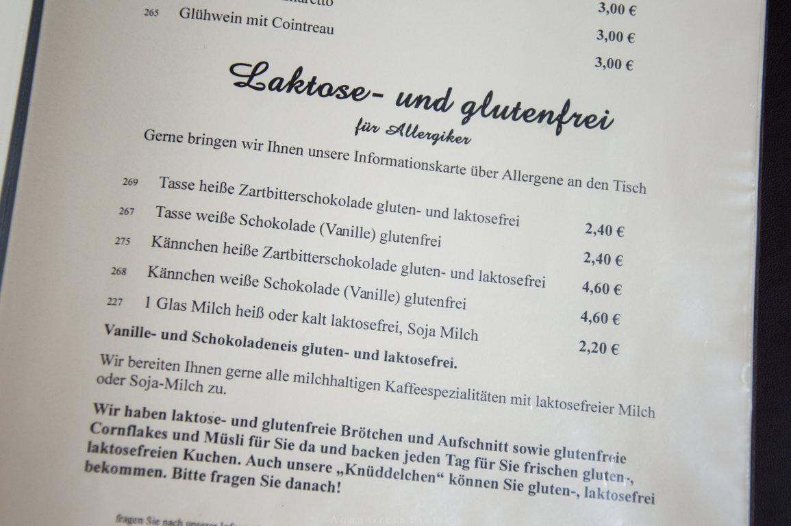 Allergikerkarte Tante Emma Café Recklinghausen
