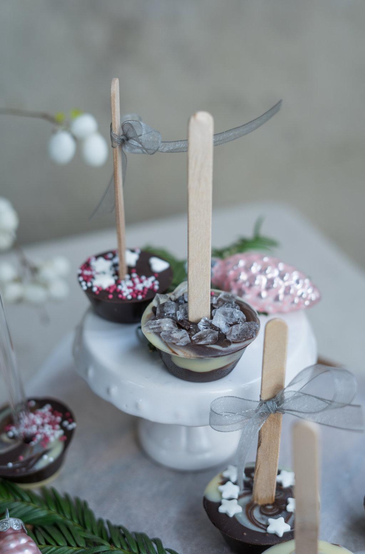 Schokololli für heiße Schokolade