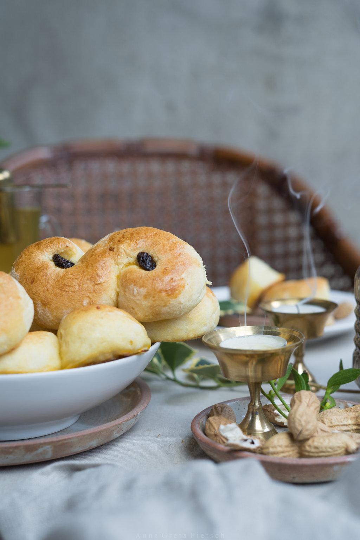 schwedische Lussekatter - glutenfrei und laktosefrei