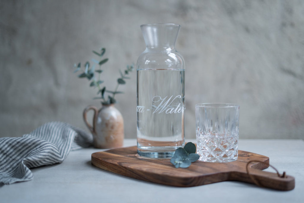 Karaffe mit Leitungswasser