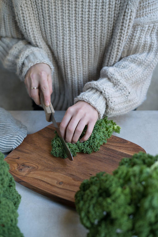 Zubereitung Grünkohl Bowl