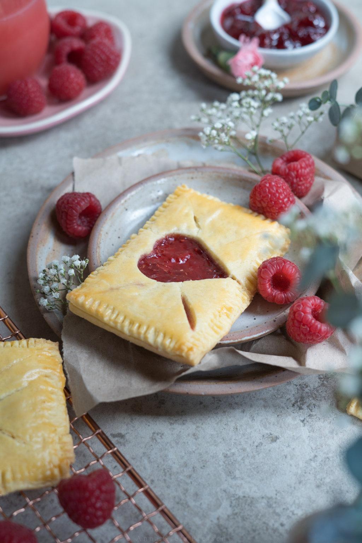 gefüllte Himbeercookies - super für Valentinstag