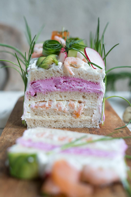 Anschnitt glutenfreie schwedische Brottorte