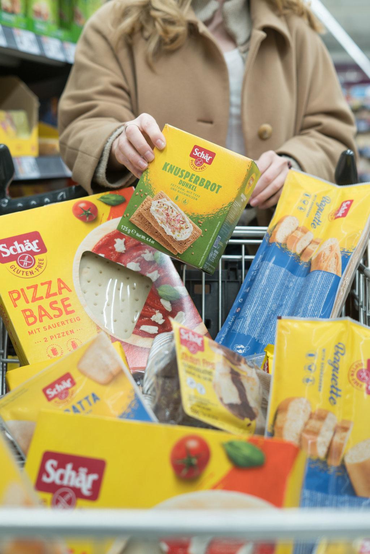 Auswahl an glutenfreien Lebenmitteln