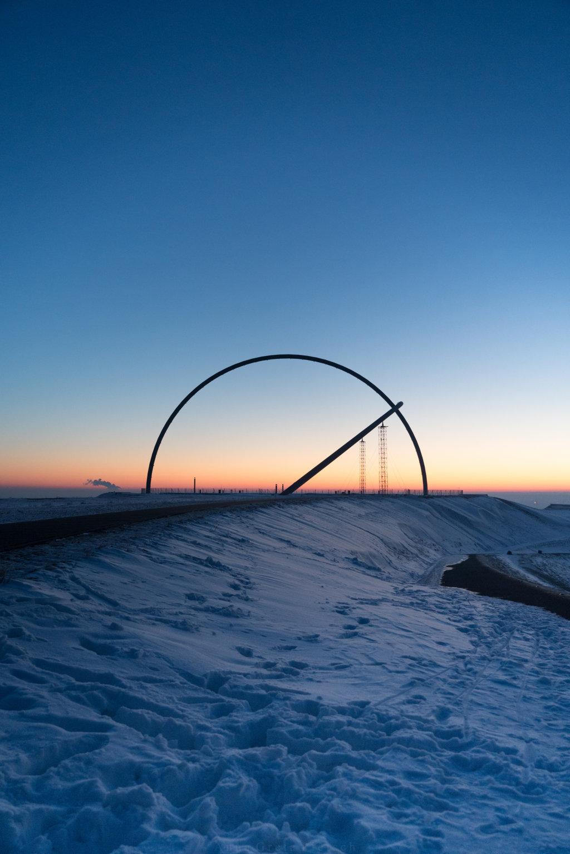 Halde Hoheward zum Sonnenaufgang