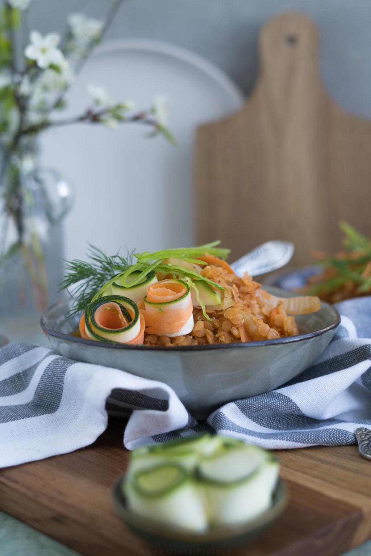 Schnelles Mittagessen - Linsen-Eintopf