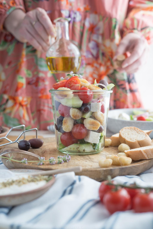 Gnocchi-Salat als Grillbeilage