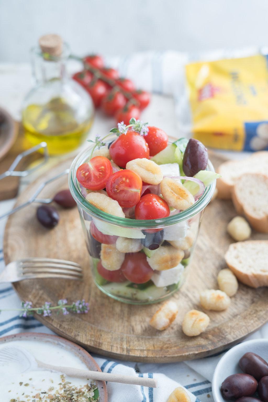 Gnocchi-Salat Greek Style
