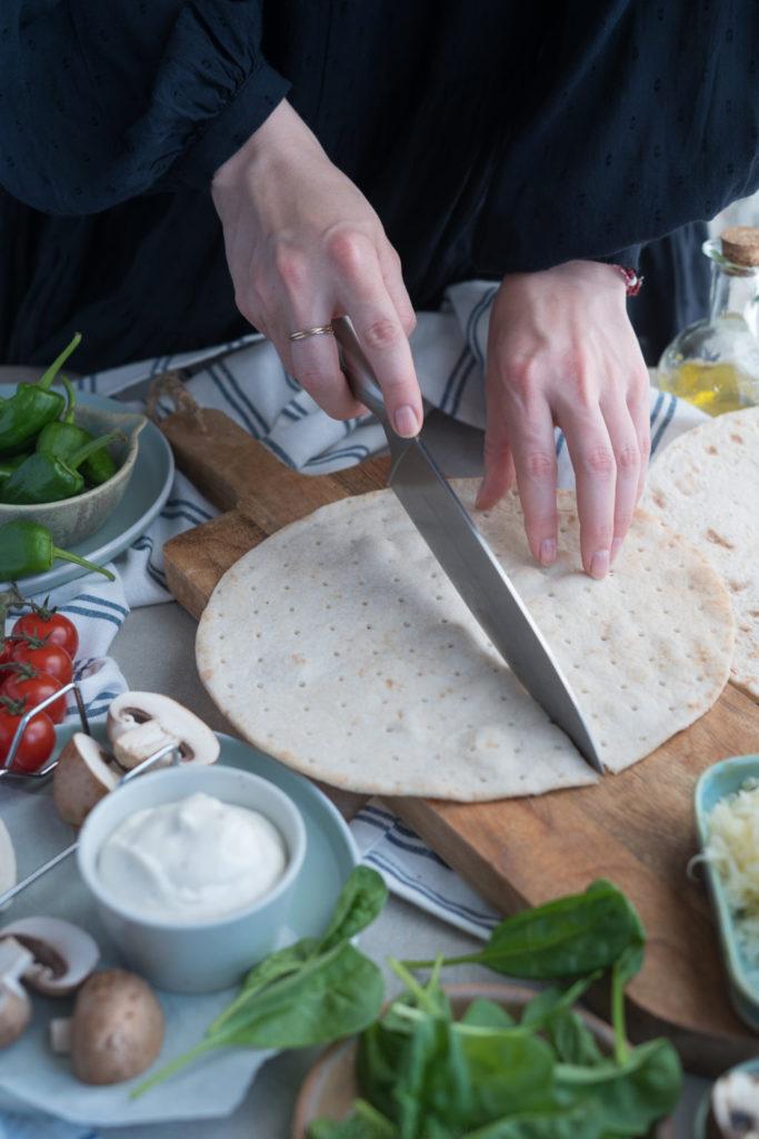 Zubereitung der Quesadillas