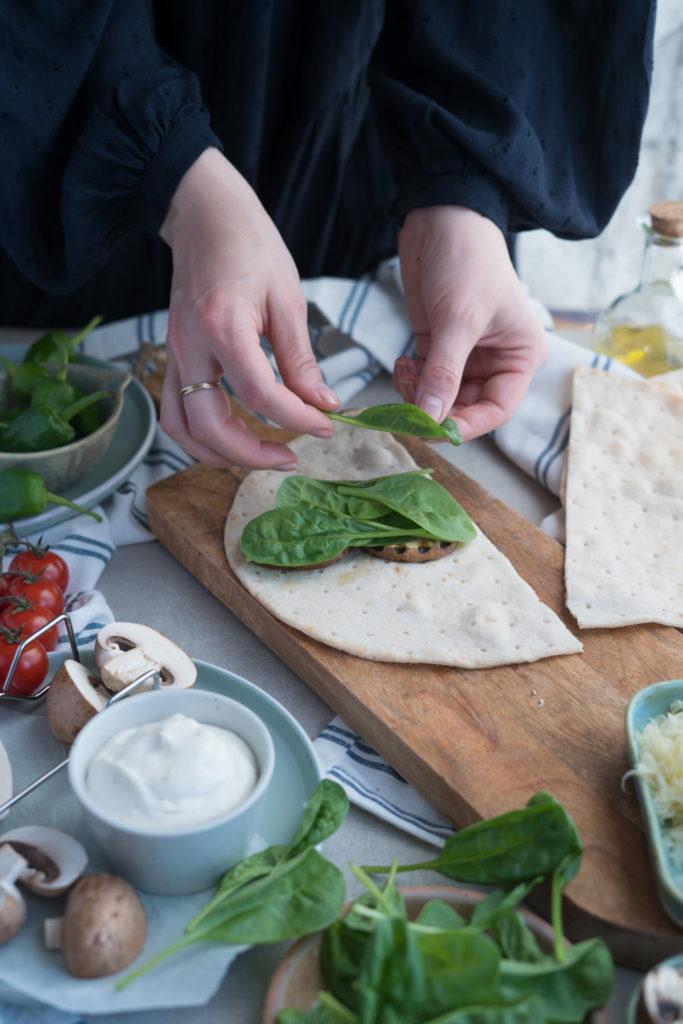Zubereitung von Quesadillas, glutenfrei