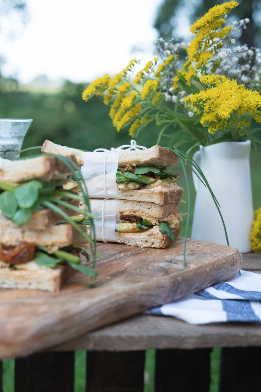 glutenfreie Sandwiches für Picknick
