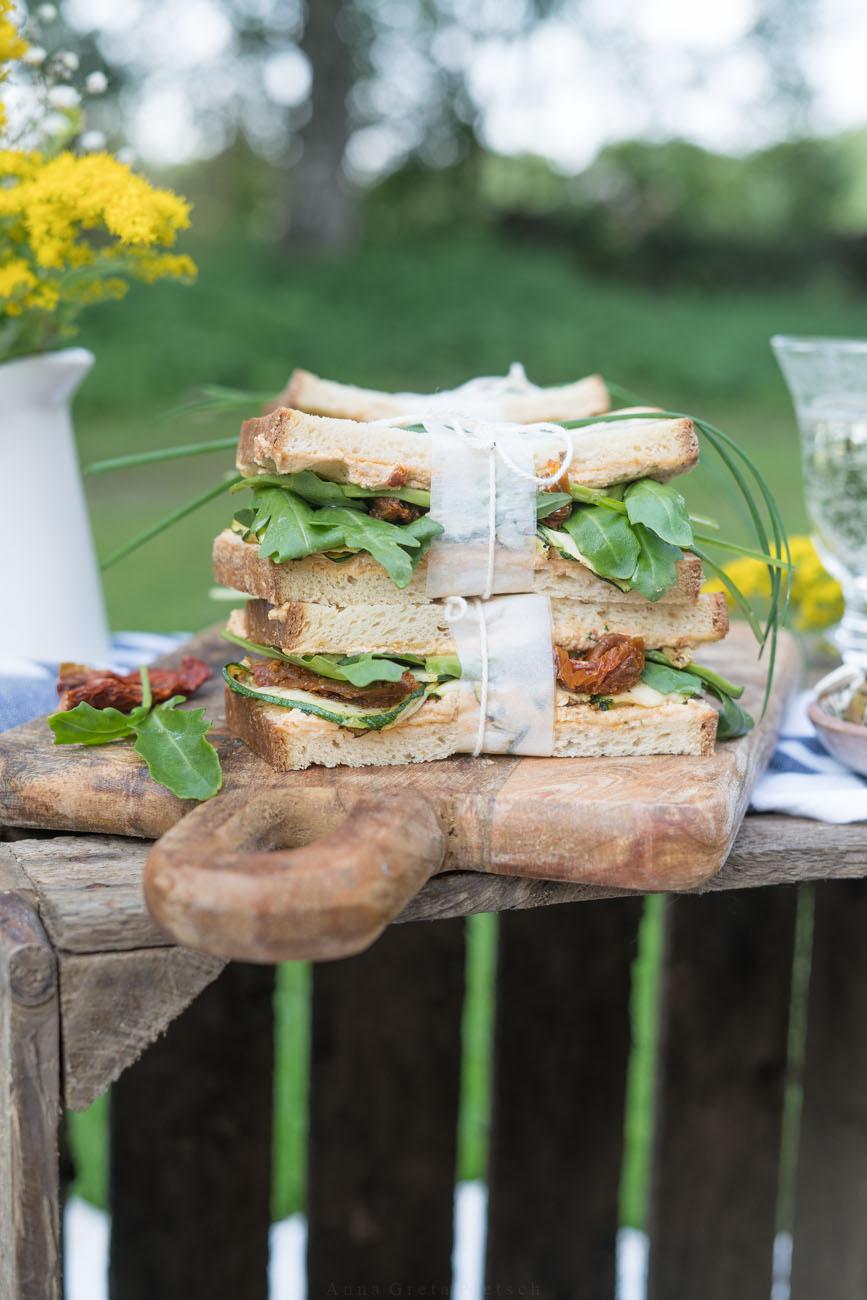 Sandwiches für Picknick - glutenfrei, laktosefrei