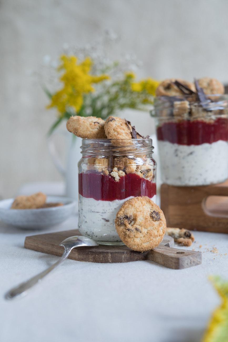 Schichtdessert mit Cookies, gluenfrei