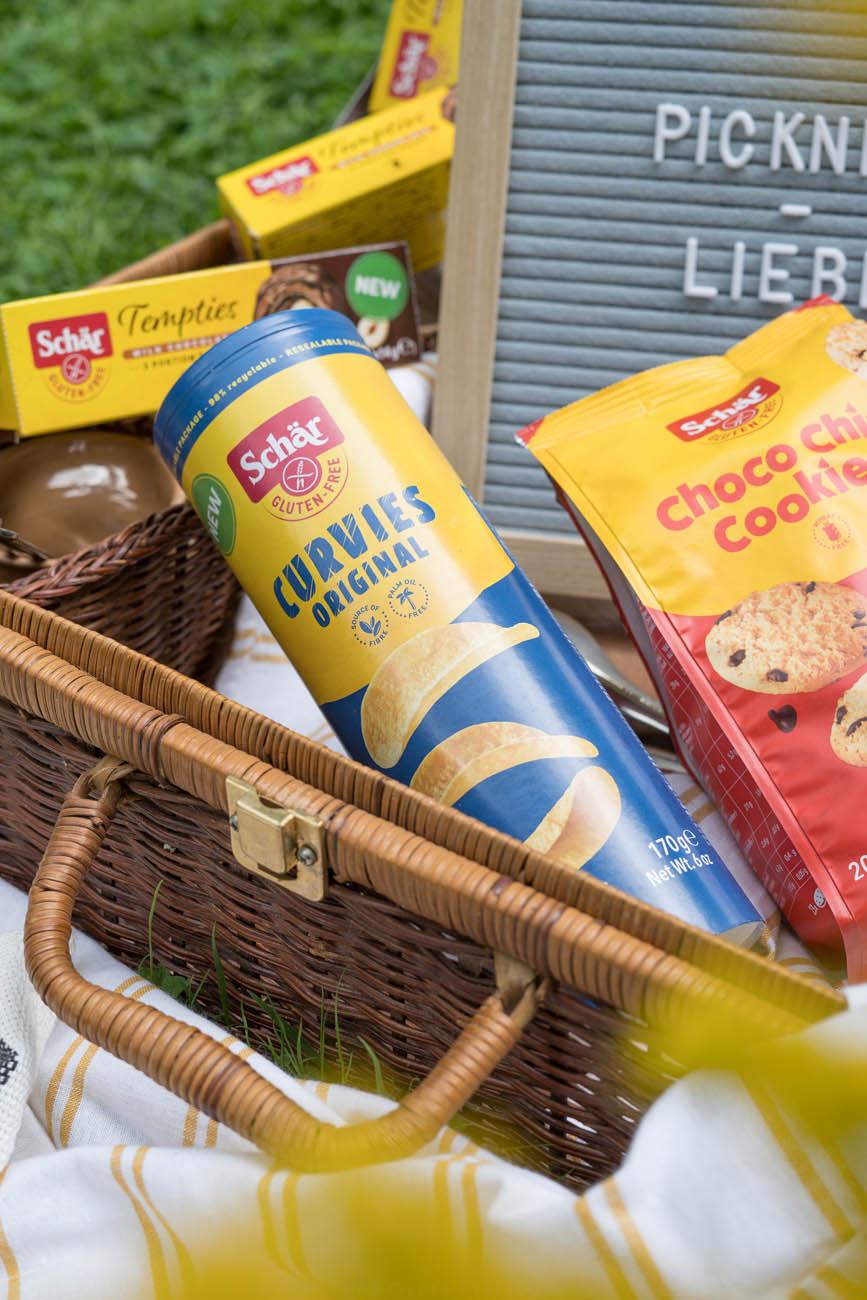 Snacks für glutenfreies Picknick, Schär