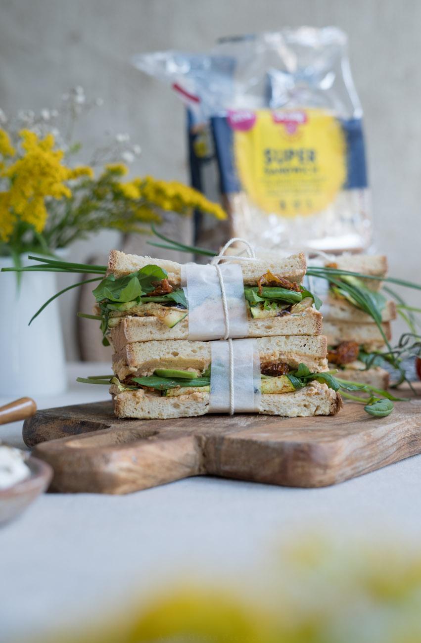 Sandwiches mit Fetacreme, glutenfrei, laktosefrei