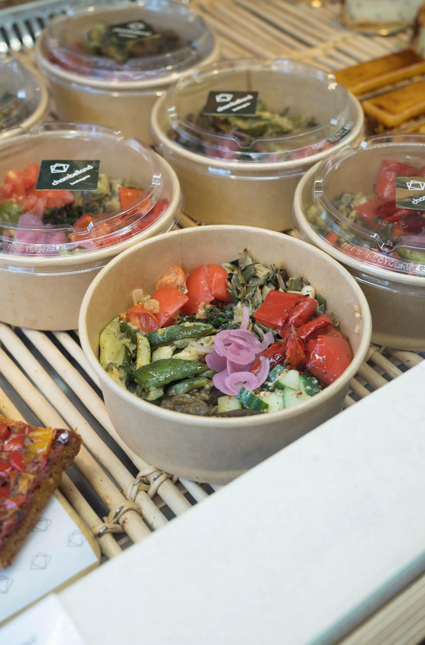 Lunch in der Boulangerie Chambelland, Paris