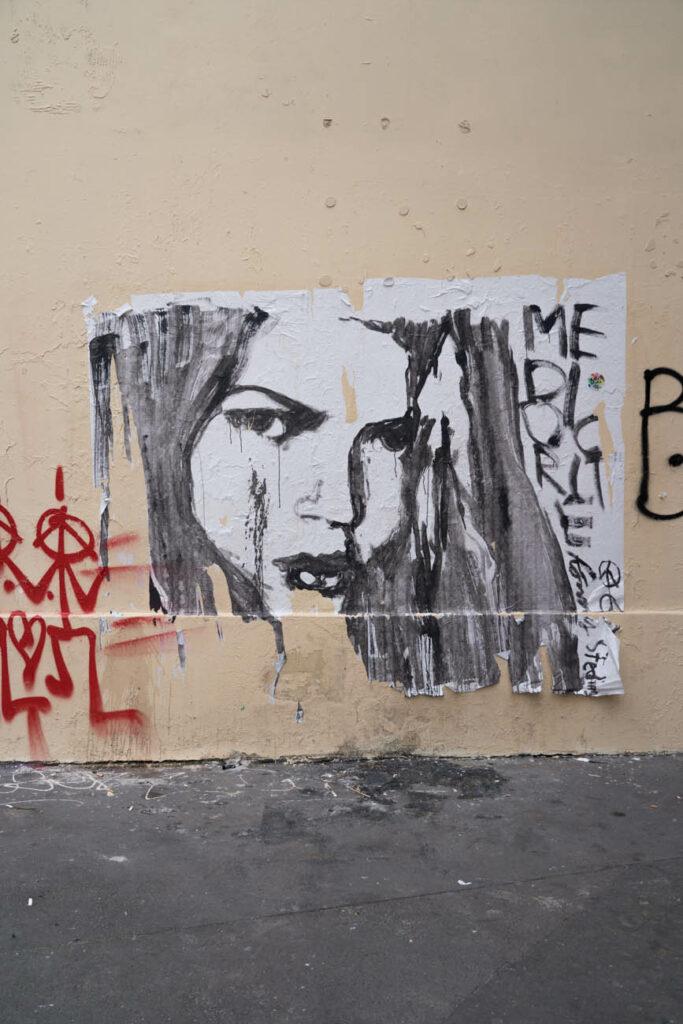 Graffiti in Marais, Paris, Frankreich