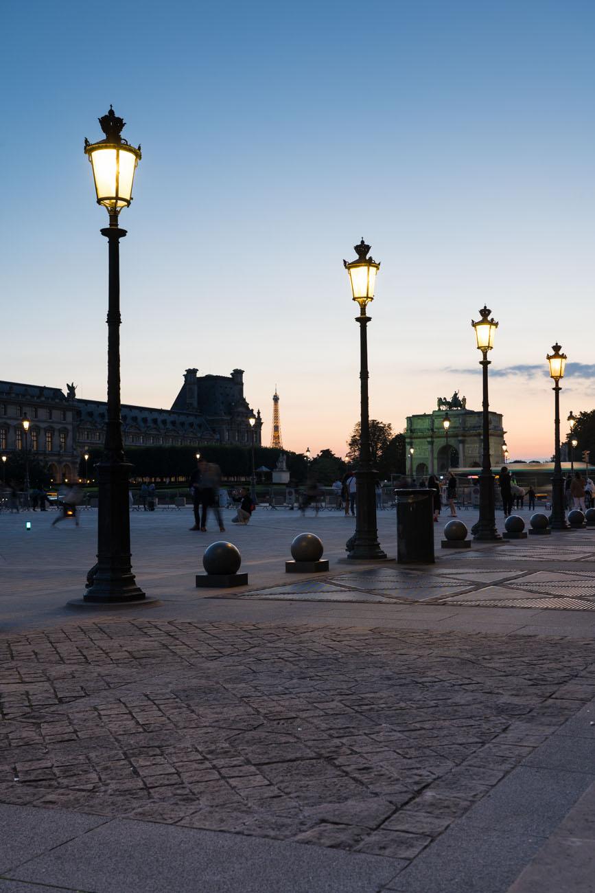 Louvre in Abendstimmung, Paris