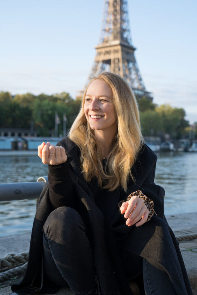 Portrait am Eiffelturm, Paris