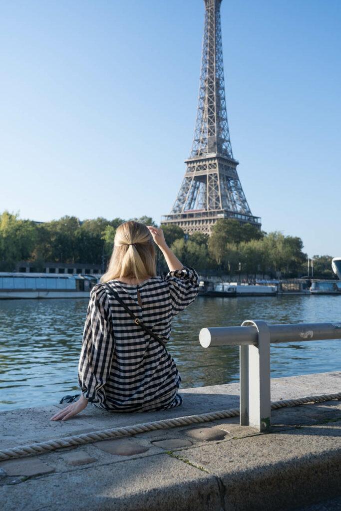 Seine und Eiffelturm, Paris