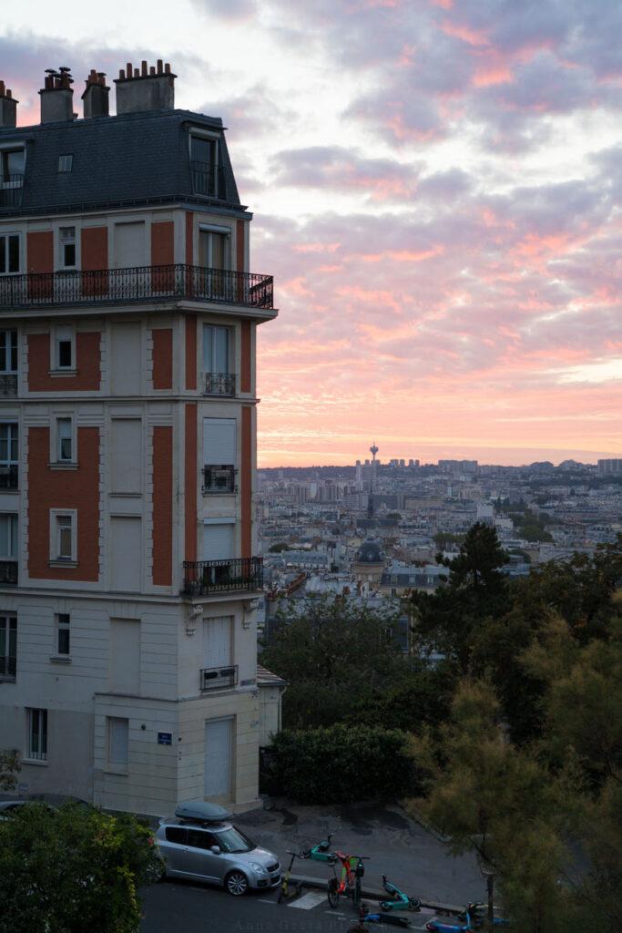Sonnenaufgang Montmartre, Paris