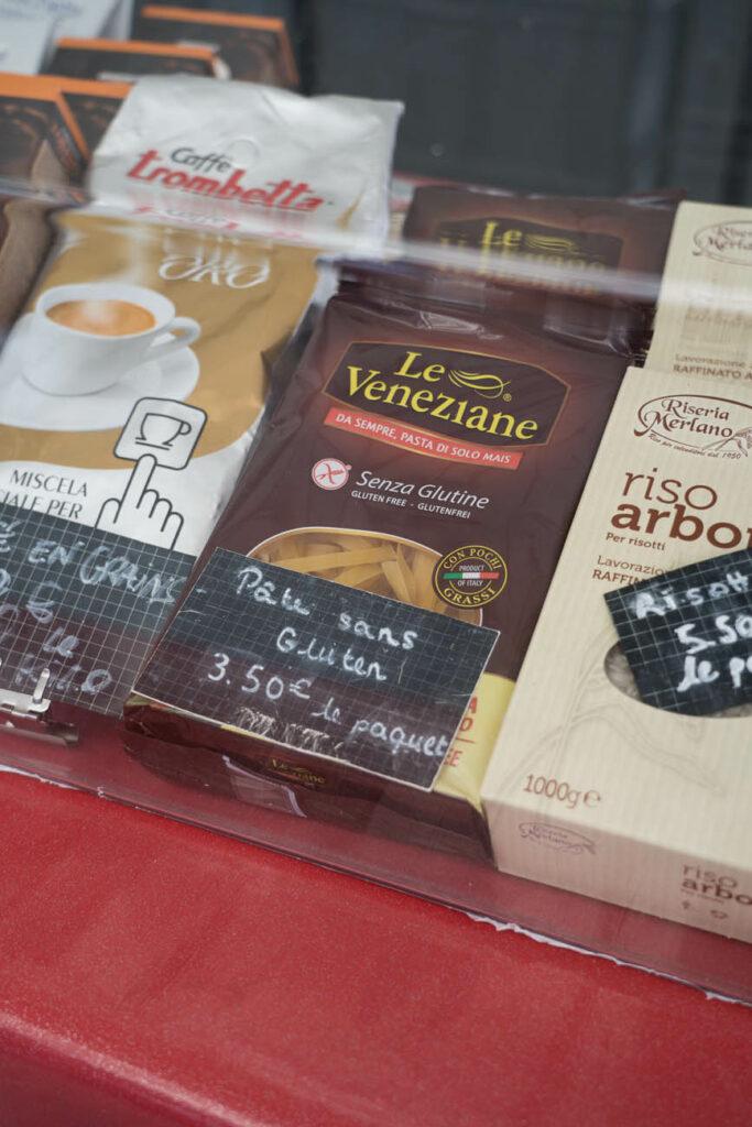glutenfreie Nudeln, Wochenmarkt, Paris
