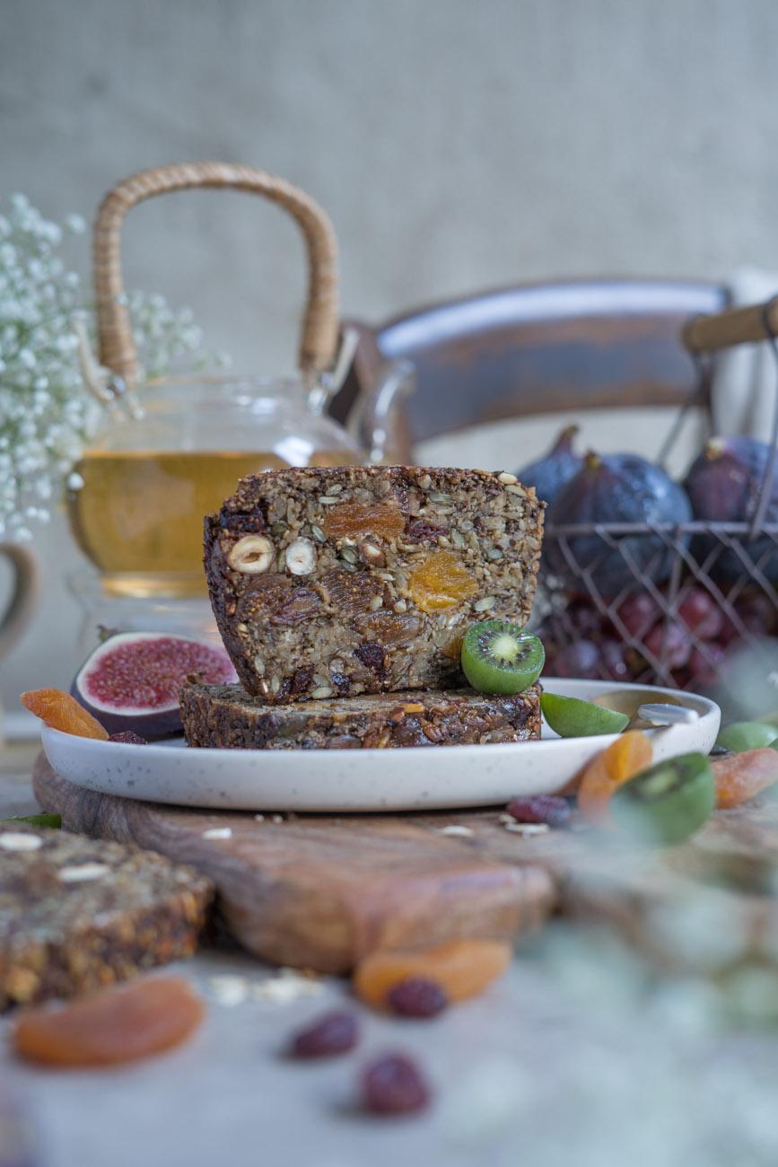 glutenfreies Früchtebrot, vegan