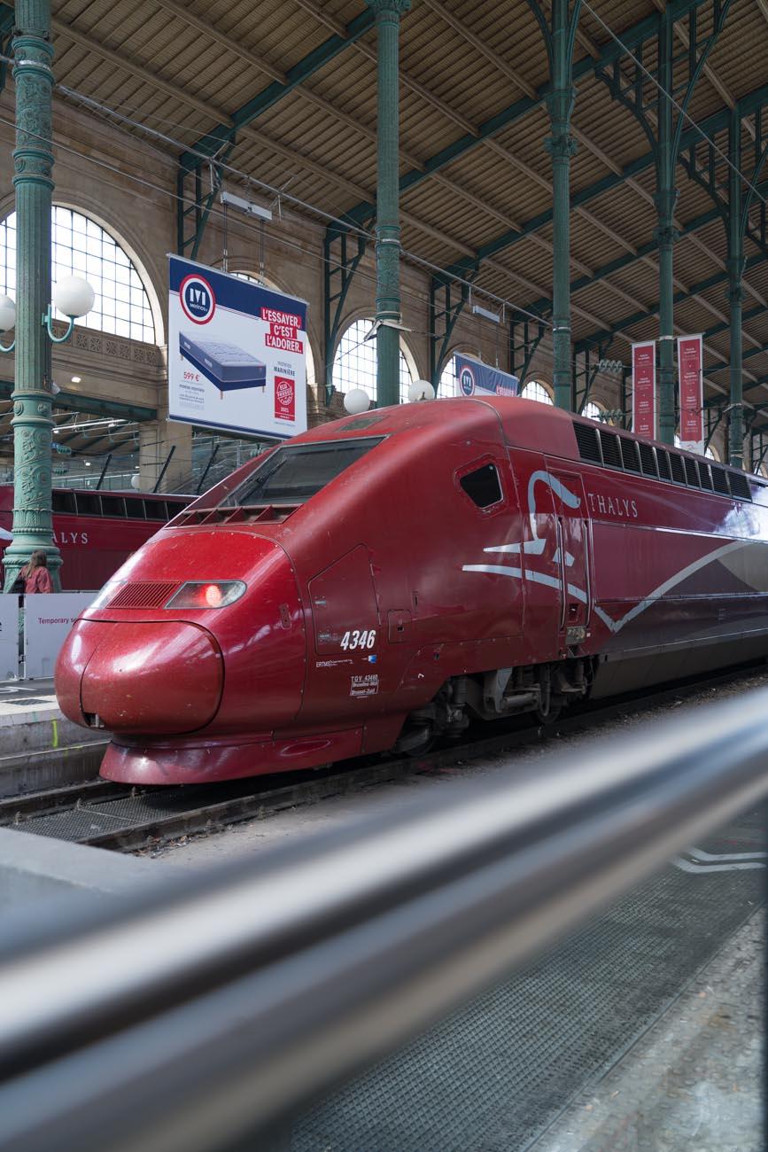 Thalys im Gare du Nord, Paris