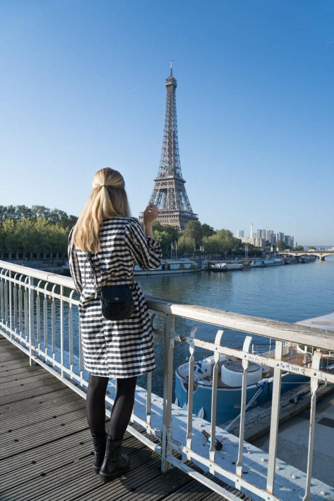 Portrait an Eiffelturm, Paris