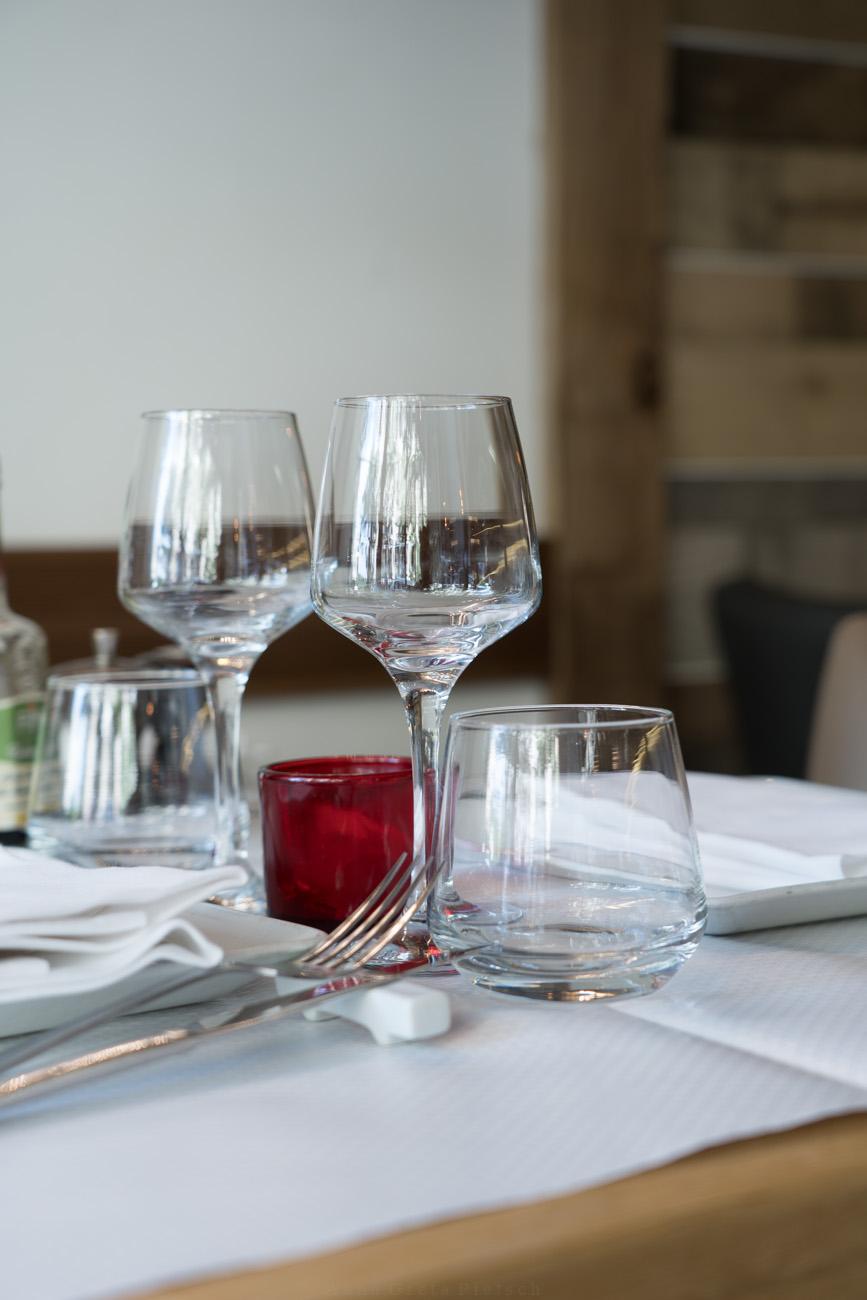 eingedeckter Tisch, Tasca glutenfree, Paris