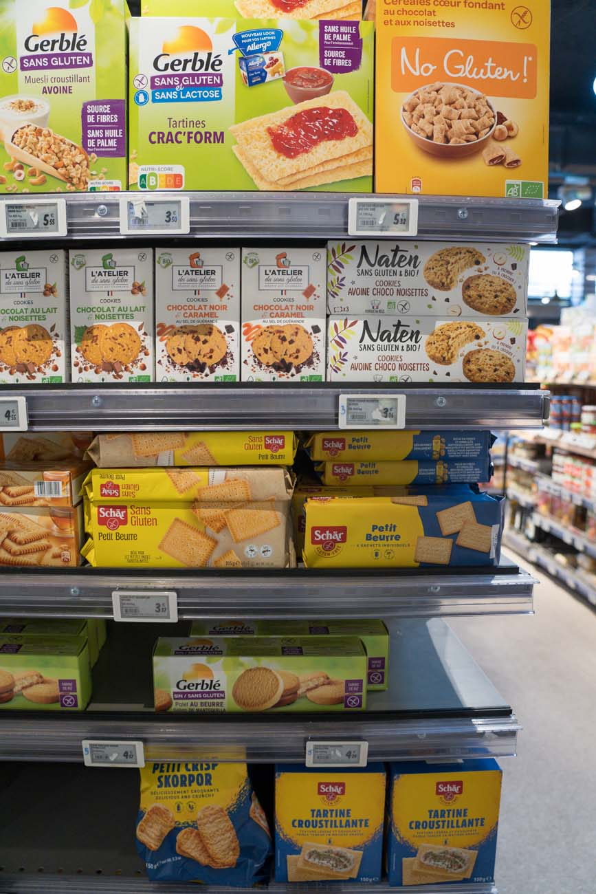 glutenfreie Lebensmittel, Carrefour, Paris