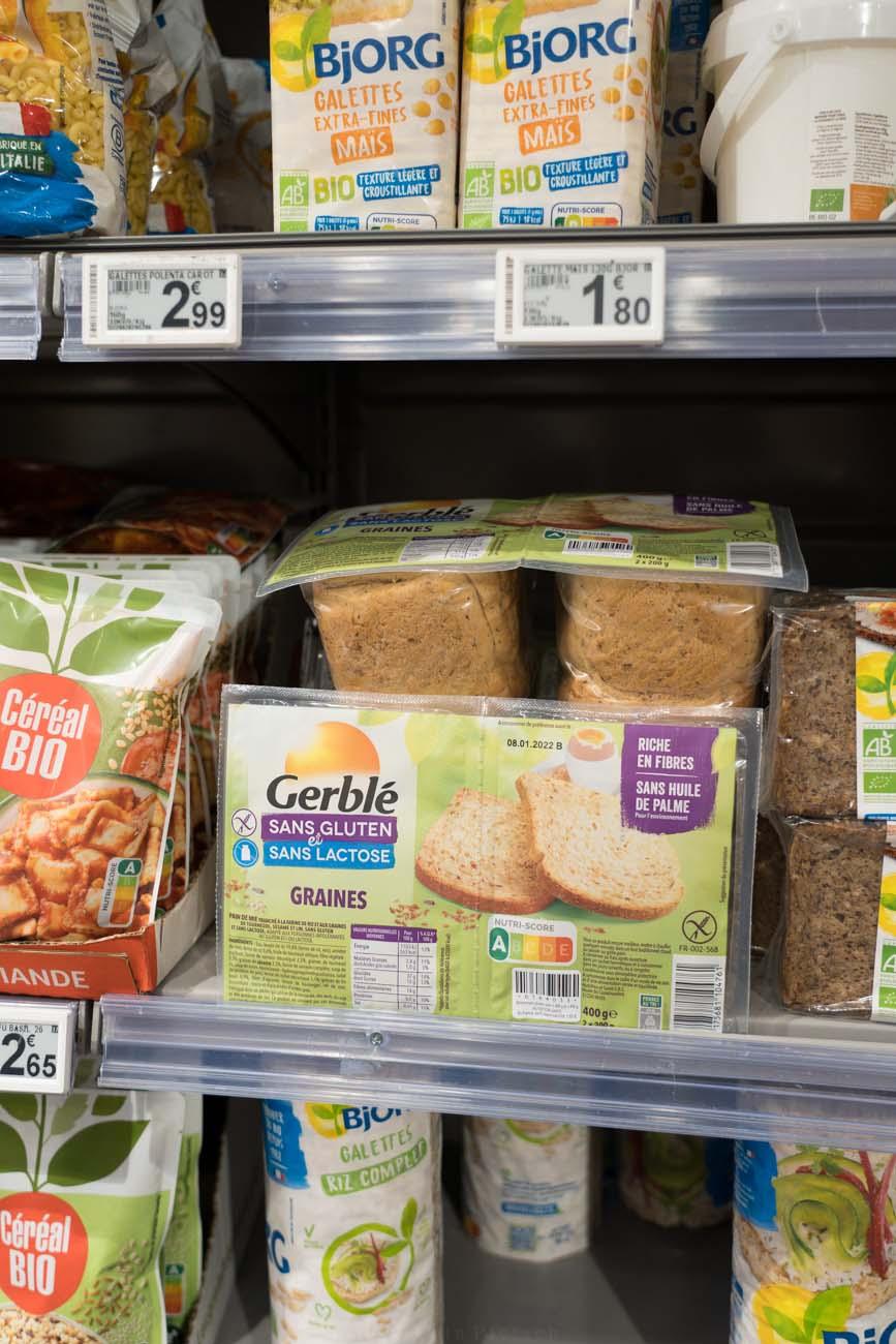 glutenfreies Brot, Franprix Supermarkt, Paris